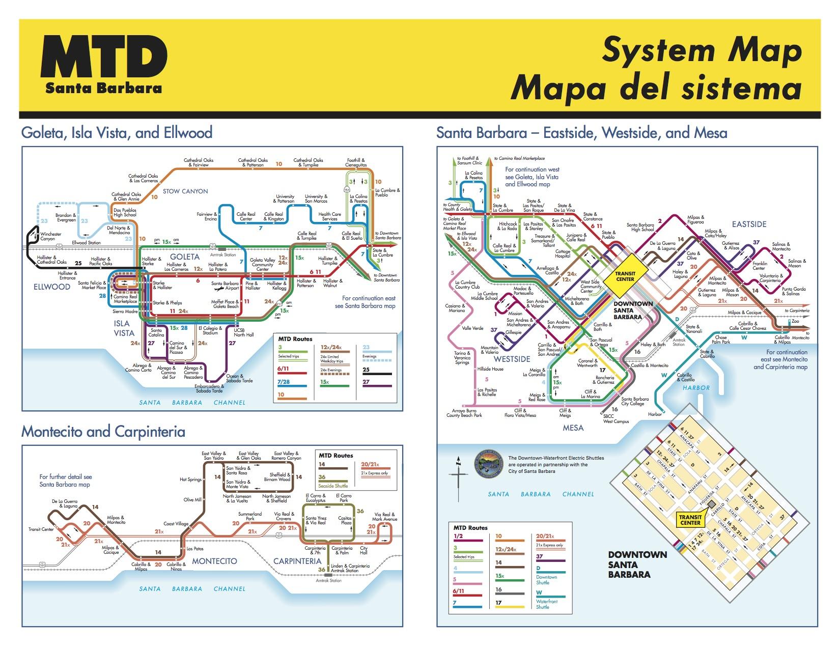SB MTD routes